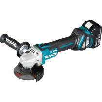 Makita DGA463RTJ 18V 115mm Brushless Angle Grinder LXT with 2 x Batteries, Charger and Case NEW! (Replaces DGA458RMJ)