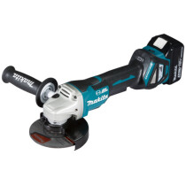 Makita DGA517RTJ 18v 125mm Brushless Angle Grinder LXT with 2 x Batteries, Charger and Case NEW!