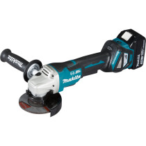 Makita DGA467RTJ 18v 115mm Brushless Angle Grinder LXT with 2 x Batteries, Charger and Case (Replaces DGA458RMJ)