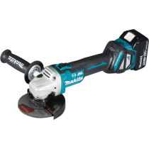 Makita DGA513RTJ 18v 125mm Brushless Angle Grinder  with 2 x Batteries, Charger and Case NEW!