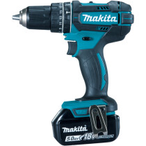 Makita DHP482RTJ 18V Combi Drill with 2x 5.0Ah Batteries