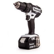 Makita DHP482T1JW 18v White Combi Drill with 1 x 5Ah Battery, Charger and Makpac Case