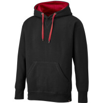 Dickies SH3007 Two Tone Pullover - Black/Red - LARGE - Clearance Item!