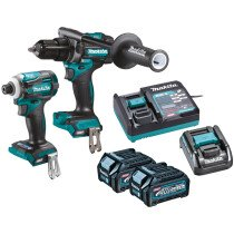 Makita DK0114G202 40v XGT Twin Kit Combi Drill and Impact Driver with 2 x 2.5Ah Batteries