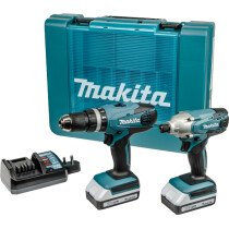 Makita DK18015X1 18v G-Series TwinKit Combi Drill + Impact Driver with 2 Batteries