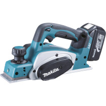 Makita DKP180RMJ 18V Planer with 2x 5.0Ah Batteries in Makpac Case