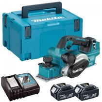 Makita DKP181ZU 18v Brushless Planer + AWS with 2 x 5.0Ah Batteries, Charger and Makpac Case