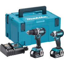 Makita DLX2180TJ 18v Brushless Twinkit Combi Drill + Impact Driver with 2 x 5Ah batteries (Replaces DLX2002MJ)
