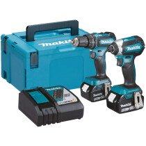 Makita DLX2283TJ 18v Brushless TwinKit Combi Drill + Impact Driver with 2 Batteries