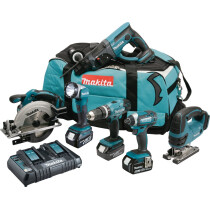 Makita DLX6068PT 18v 6 Piece Combo Kit with 3 x 5.0Ah Batteries