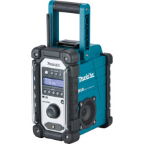 Makita DMR109 Body Only Job Site DAB Radio Mains or Battery Operated - Blue