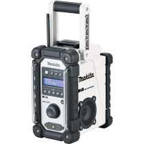 Makita DMR109W Body Only Job Site DAB Radio Mains or Battery Operated - White