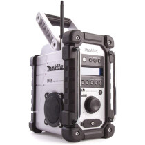 Makita DMR109W Body Only Job Site DAB Radio 10.8v/18V Battery or Mains Operated - Blue- White