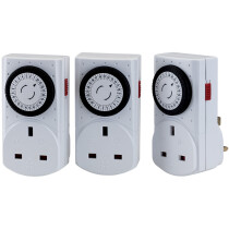 Draper 44914 MT3 Pack of Three 230V 24 Hour Mechanical Timers