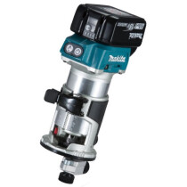 Makita DRT50RMJX2 18v Brushless Router/Trimmer LXT with 2 x Batteries, Charger and Makpac Case
