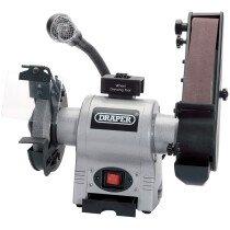 Draper 05096 GD650A 150mm 370W 230V Bench Grinder with Sanding Belt and Worklight