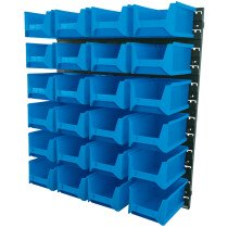Draper 06797 SBB24B 24 Bin Wall Storage Unit (Large Bins) 483 x 540mm Board Size