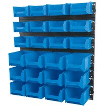 Draper 06798 SBB24C 24 Bin Wall Storage Unit (Small/Medium Bins)