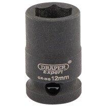 "Draper 06871 409-MMC Expert 12mm 3/8"" Square Drive Hi Torq 6 Point Impact Socket"