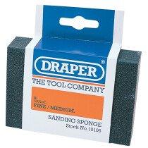 Draper 10106 SP100FM Fine   Medium Grit Flexible Sanding Sponge