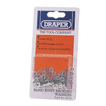 Draper 14014 RIV/W 100 X 3.2mm Rivet Backing Washers