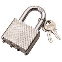 Draper 14021 LT100 50mm Laminated Steel Padlock