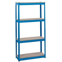 Draper 21658 MSU152 Steel Shelving Unit   Four Shelves (L760 X W300 X H1520mm)