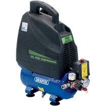 Draper 24974 DA6/169 6L 230V 1.1kW Oil Free Air Compressor