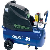Draper 24978 DA25/169 24L 230V 1.1kW Oil Free Air Compressor