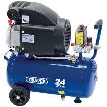 Draper 24980 DA25/207 24L 230V 1.5kW Air Compressor