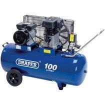 Draper 31254 DA100/330 100L 230V 2.2kW Belt Driven Air Compressor