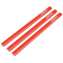 Draper 34180 CP/3 Pack of Three Carpenters Pencils 174mm Long