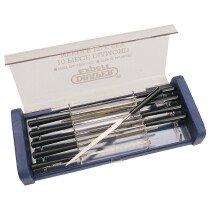 Draper 36326 4885/10D Expert 10 Piece 140mm Diamond Needle File Set