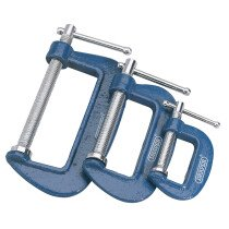 Draper 36779 CS3 3 Piece C Cramp/Clamp Set