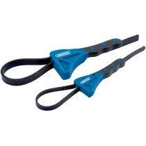Draper 43863 SWR2 2 Piece Soft Grip Strap Wrench Set