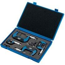 Draper 46607 PEM/4 Expert 4 Piece Metric External Micrometer Set