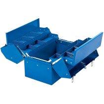 Draper 48566 TB459B 35 L Barn Type Tool Box With 4 Cantilever Trays