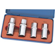 "Draper 55641 SES 1/2"" Square Drive 4 Piece Stud Extractor Set"
