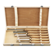 Draper 58697 AWL44 6 Piece HSS Woodturning Chisel Set