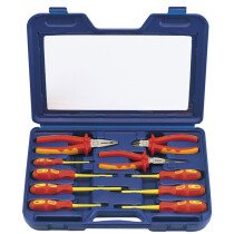 Draper 71155 VDESET1 Expert 10 Piece Fully Insulated VDE Pliers and Screwdriver Set