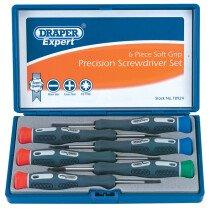 Draper 78924 PSS6 Expert 6 Piece Soft Grip Precision Screwdriver Set