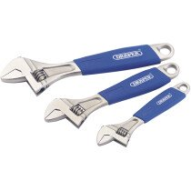 Draper 88598 380CD/SG3 3 Piece Soft Grip Adjustable Wrench Set