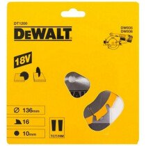 DeWalt DT1946-QZ 136x10mm 16T Circular Trimsaw Blade (Fits DW935/936K2)