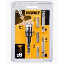 Dewalt DT71514-QZ Screwdriving Bit Set 6 Piece with Rapid Load Bit Adaptor