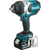 "Makita DTW1002RTJ 18v 1/2"" Square Drive 1000Nm Impact Wrench with 2 Batteries in Case"