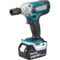 "Makita DTW190RTJ 18v Li-ion Impact Wrench 1/2"" Square Drive 190Nm with 2 Batteries"