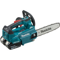 Makita DUC256PT2 Twin 18V Top Handle Chainsaw 25cm with 2x 5.0Ah Batteries and Charger