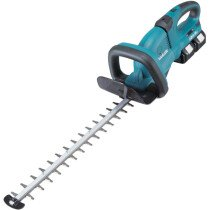 Makita DUH551PG2 Twin 18V 55cm Hedge Trimmer with 2 x 6.0Ah Batteries