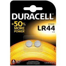 Duracell S3284 LR44 A76 Button Battery Pack of 2 DURLR44
