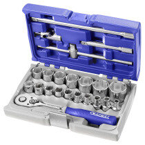"Expert By Facom E032900 1/2"" Drive 22 Piece Socket and Ratchet Set in Case"
